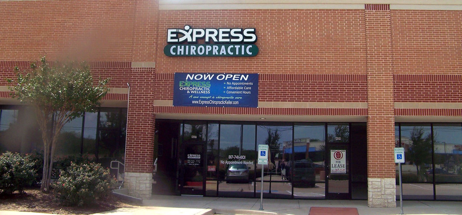 Express Chiropractic Keller Outside Clinic